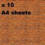 Art Printers N Gauge Building Self Adhesive  Material packs (10 x A4)